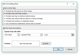 Select Rule #2 on New Rule Dialog Box
