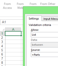 Validation Dialog Box